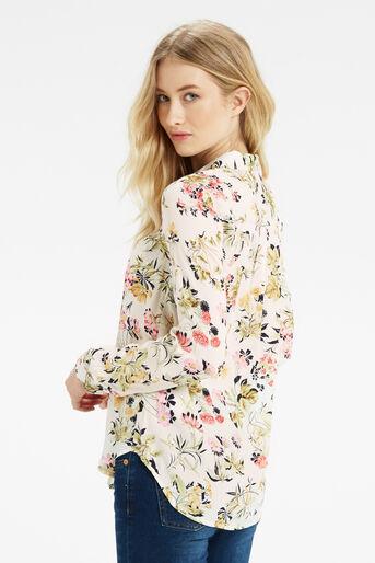 Oasis, Sofia Print Viscose Shirt Multi Natural 3