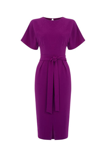 Oasis, DRAPE BELTED WIGGLE DRESS Bright Pink 0