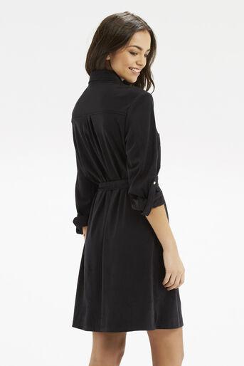 Oasis, Suedette Shirt Dress Black 3