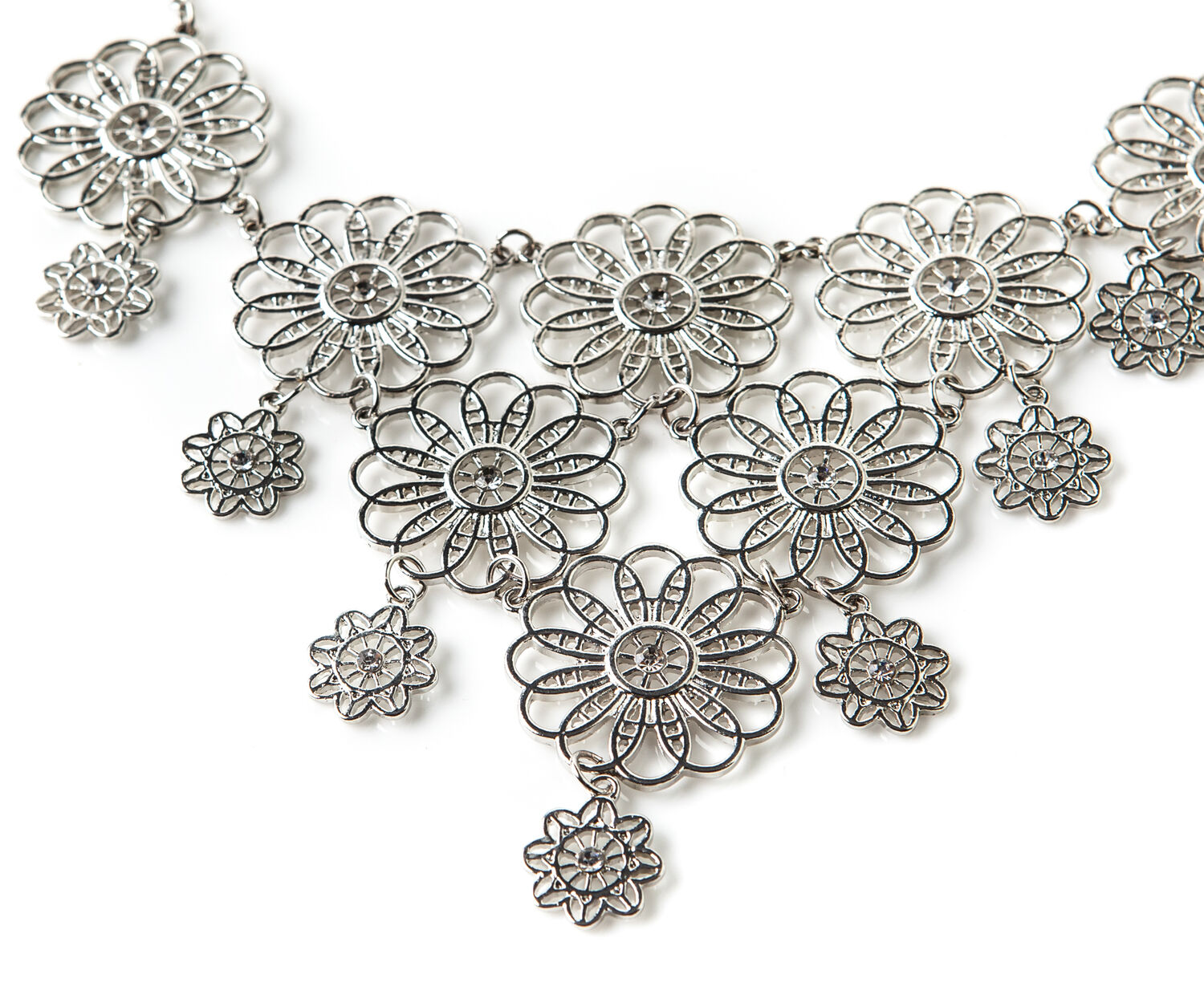 Oasis, FILIGREE FLOWER COLLAR Silver 1