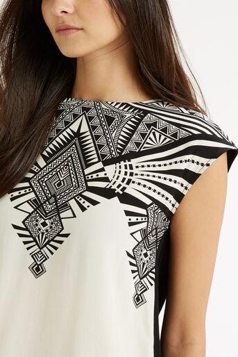Oasis, Deco Wrap Back T-Shirt Multi Natural 4