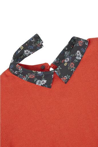 Oasis, Edie Print 2 in 1 Jumper Mid Orange 4