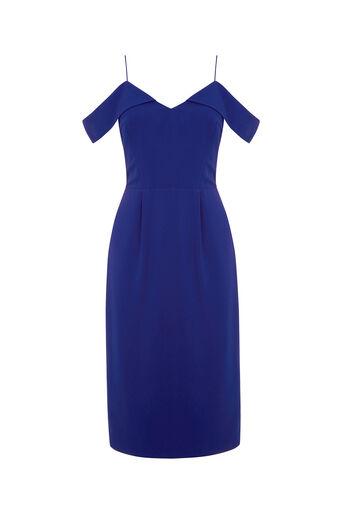 Oasis, LONG LENGTH BARDOT DRESS Cobalt Blue 0