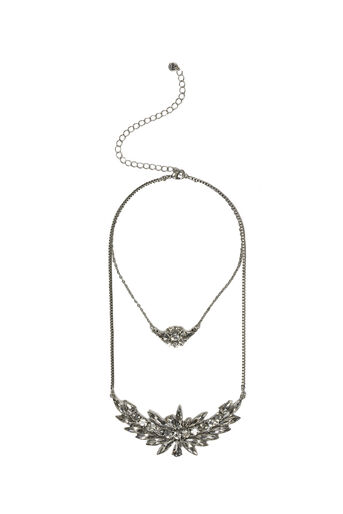 Oasis, LAYERED CRYSTAL NECKLACE Crystal 0