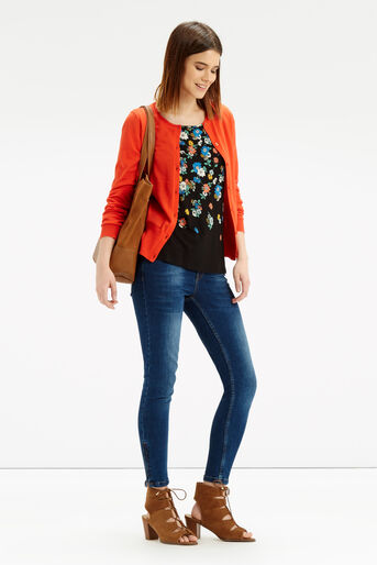 Oasis, Scattered Edie Frill T-Shirt Multi 2