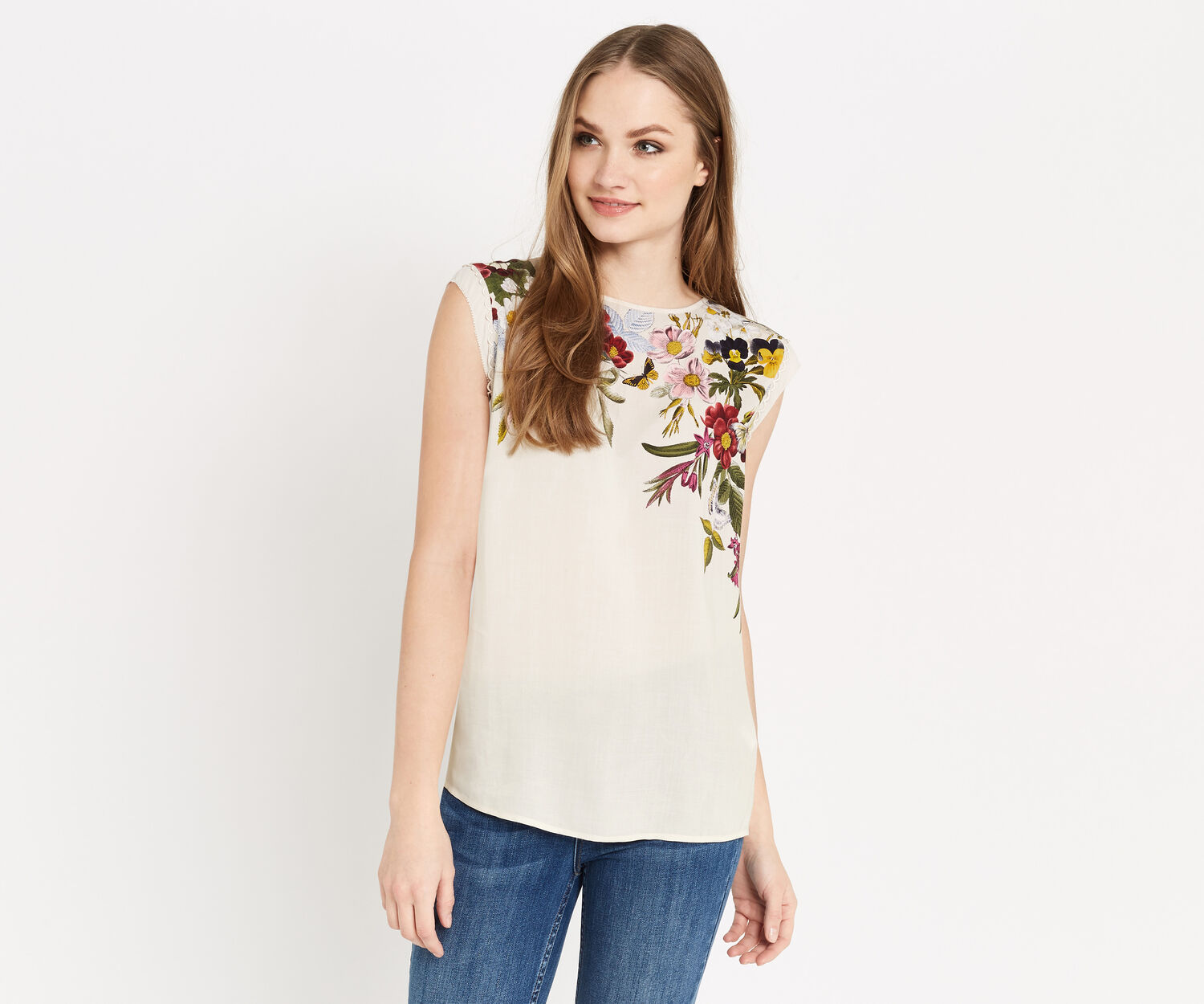 Oasis, SPRING PLACEMENT TEE Multi Natural 1