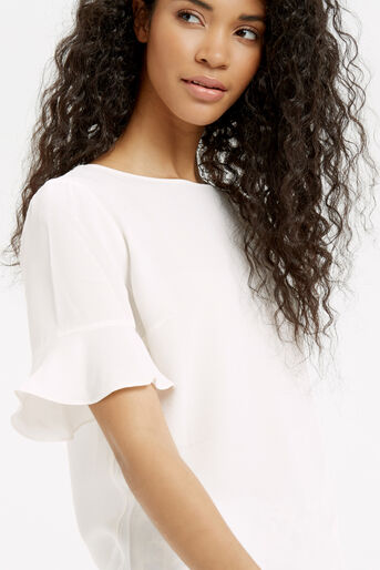 Oasis, FLUTED SLEEVE TOP Off White 4