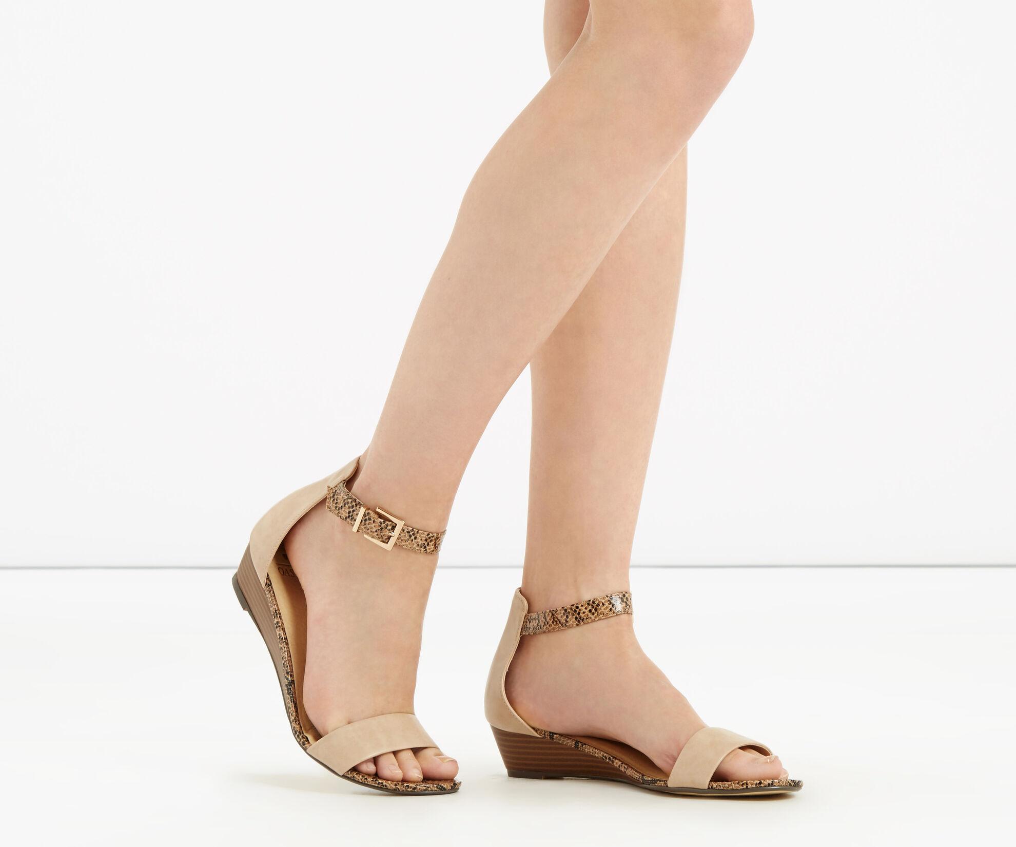 Oasis, Wedge Sandal Multi Natural 1
