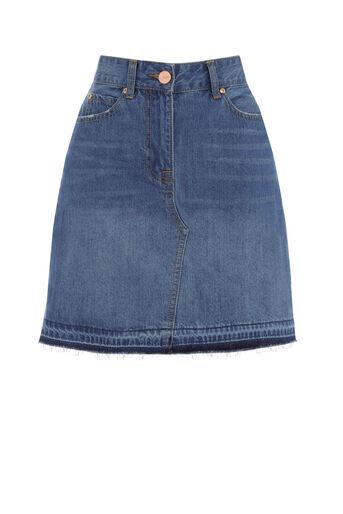 Oasis, Denim mini skirt Denim 0