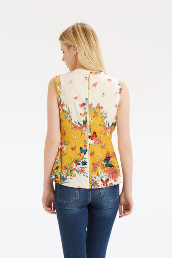 Oasis, Placement Butterfly Peplum Top Multi 3