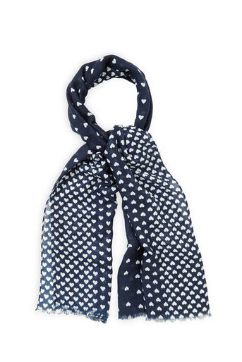 Oasis, MARGOT HEART SCARF Navy 0