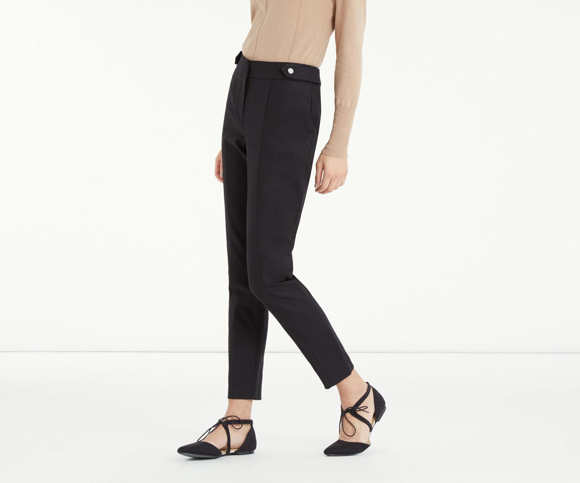 Oasis, Compact Cotton Trouser Black 1