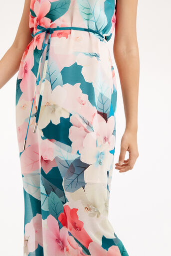 Oasis, FLORAL MAXI DRESS Teal Green 4