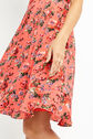 Oasis, LONG UTILITY ROSE TEA DRESS Multi Red 4