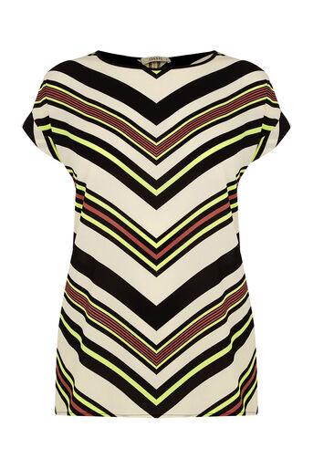Oasis, Chevron Stripe T-Shirt Multi 0
