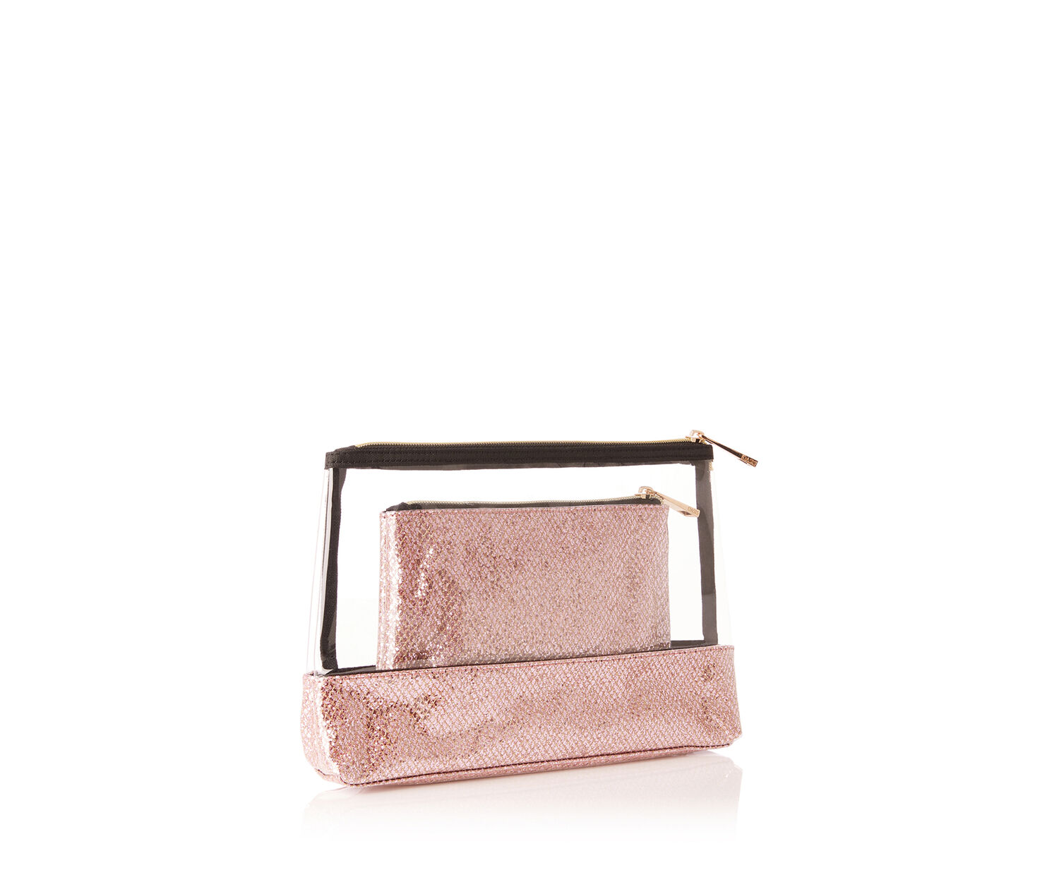 Oasis, GLITTER WASH BAG Rose Gold 1