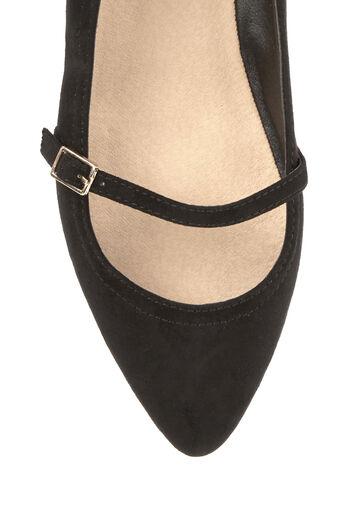 Oasis, Chaussures plates à bout pointu et boucle Noir 3
