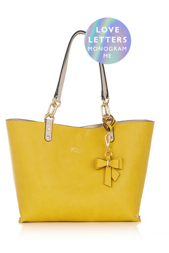 Oasis, MONOGRAM REVERSIBLE BOW BAG Mid Yellow 0