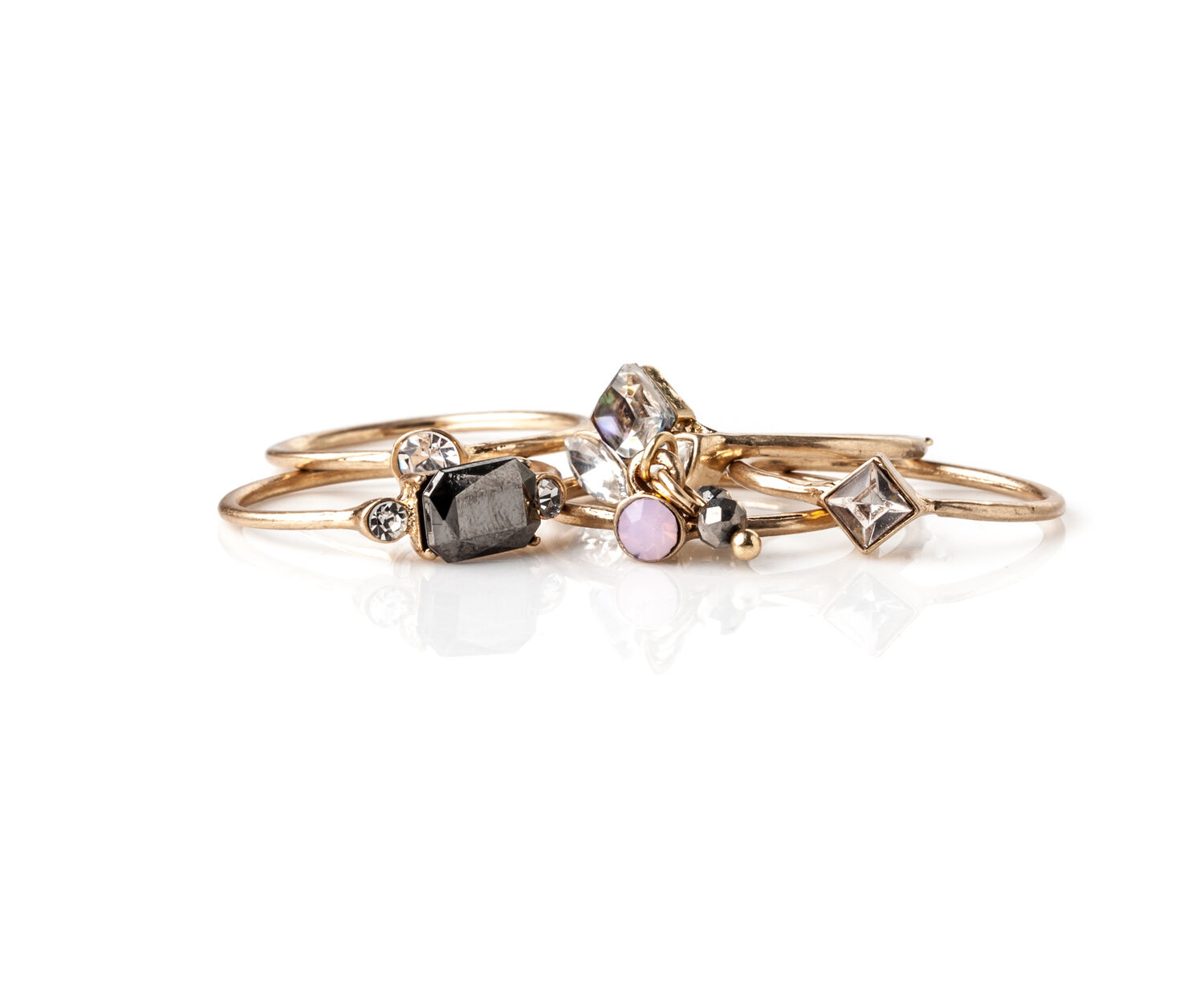 Oasis, PRETTY RING SET Rose Gold 1