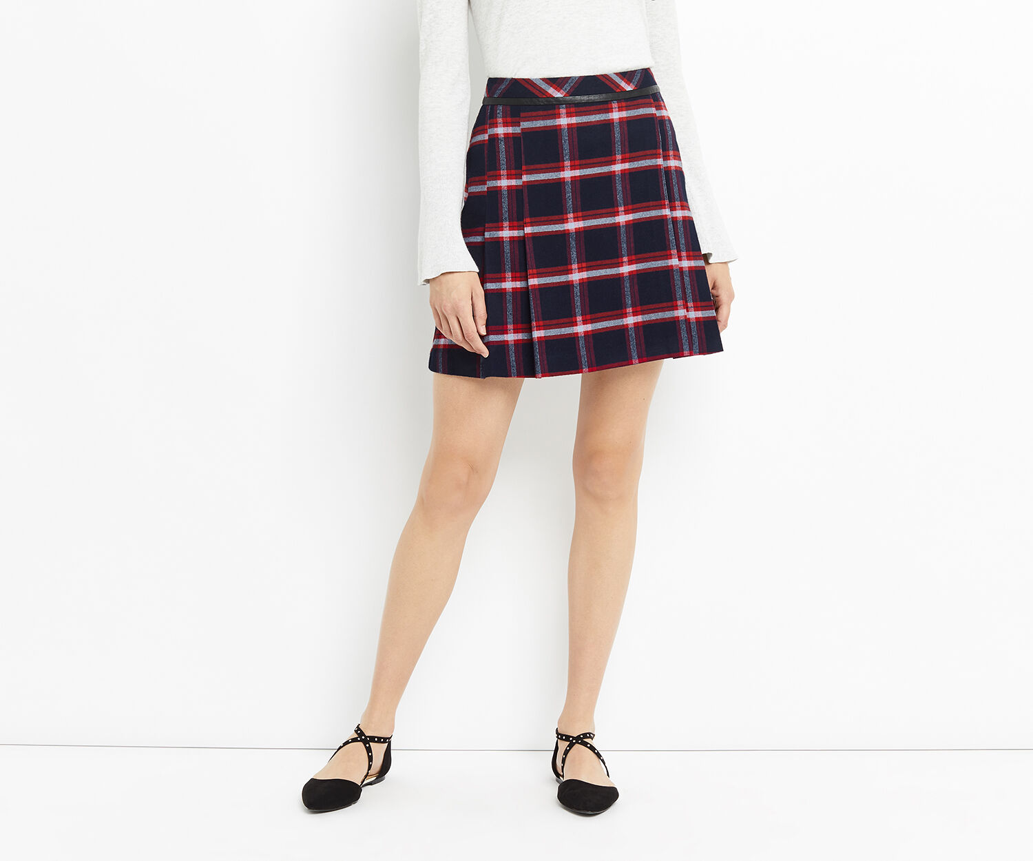 Oasis, MARAIS CHECK POPPY SKIRT Multi 1