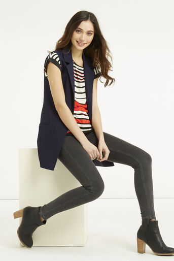 Oasis, Stripe Bretton T-Shirt Mid Orange 2
