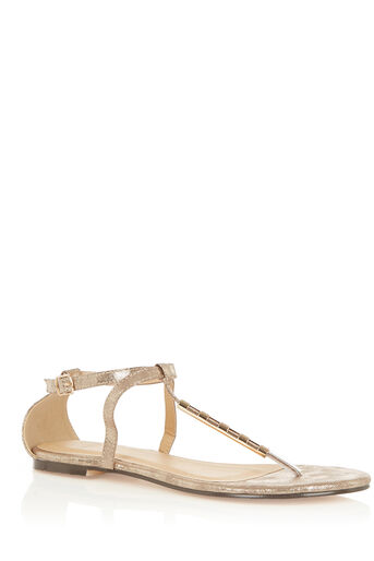 Oasis, TAFFY METAL DETAIL SANDALS Gold 0