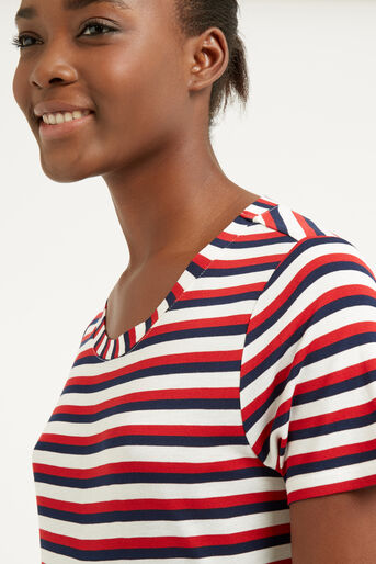 Oasis, MULTI STRIPE PERFECT TEE Multi 4