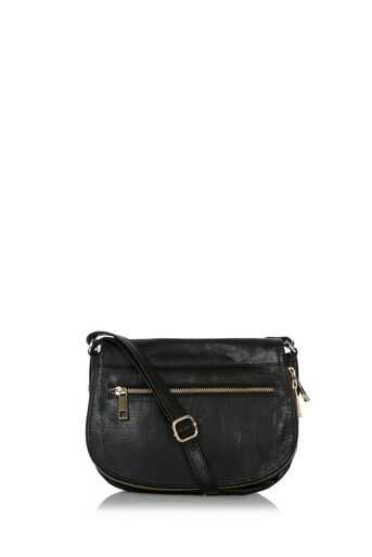 Oasis, LEATHER SATCHEL BAG Black 0