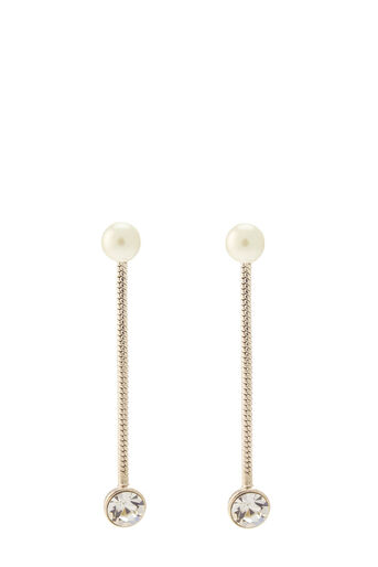 Oasis, LUXE CHAIN DROP EARRING Cream 0