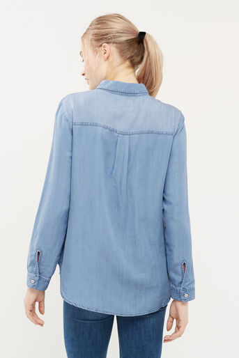 Oasis, Blossom embroidered shirt Denim 3