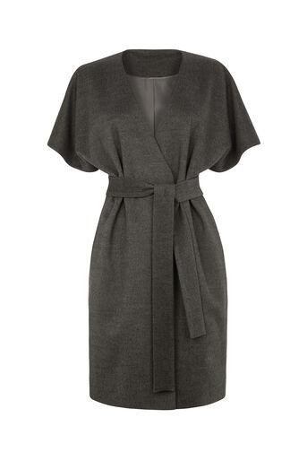 Oasis, Lexi Short Sleeved Coat Mid Grey 0