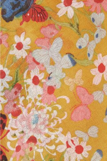 Oasis, Bella Butterfly Scarf Multi Yellow 2
