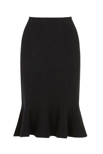Oasis, Fishtail skirt Black 0