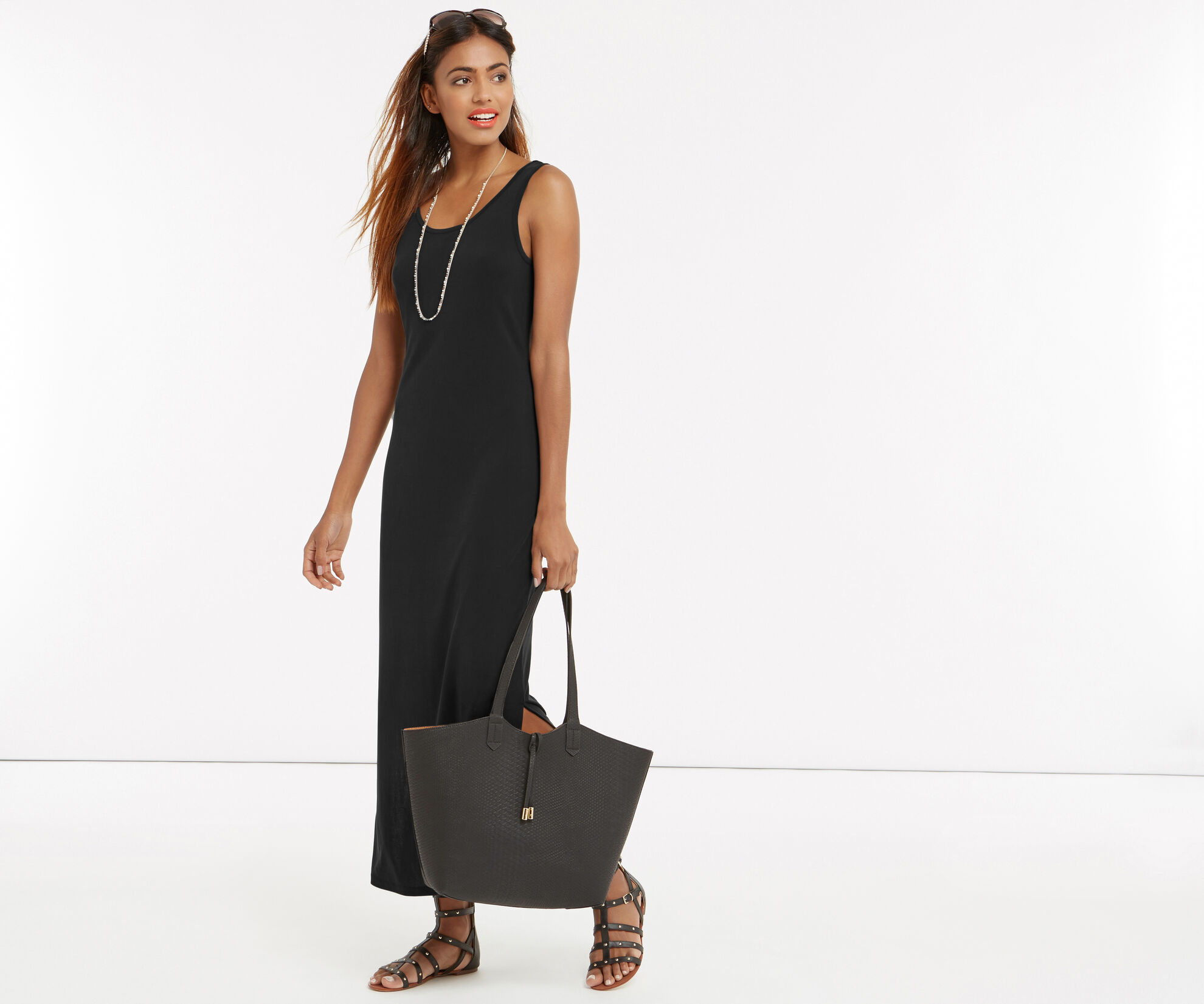 Oasis, SOFT TOUCH MAXI DRESS Mid Grey 1