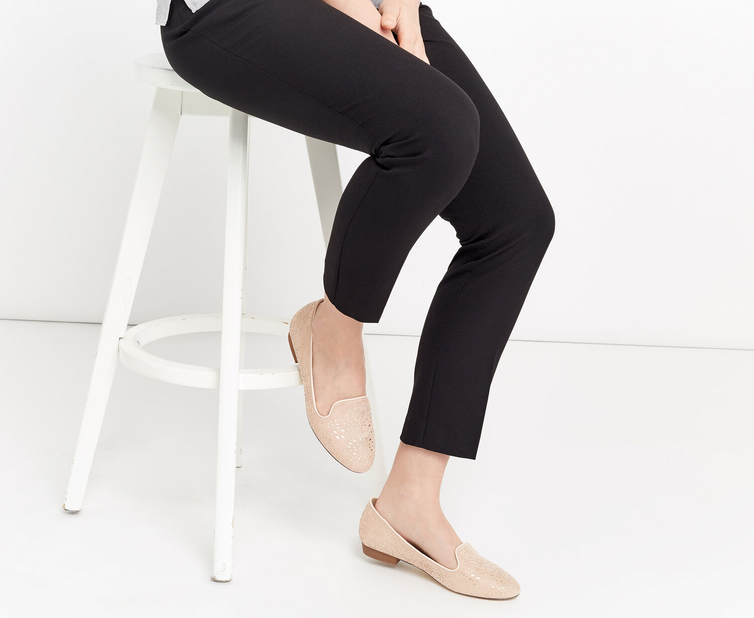 Oasis, BETSY CUT OUT BALLET FLAT Mid Pink 1