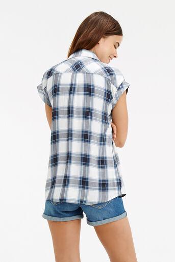 Oasis, Roll Sleeve Check Shirt Multi 3