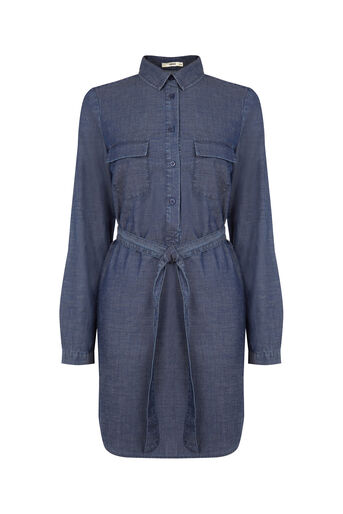 Oasis, Gemma Shirt Dress Denim 0