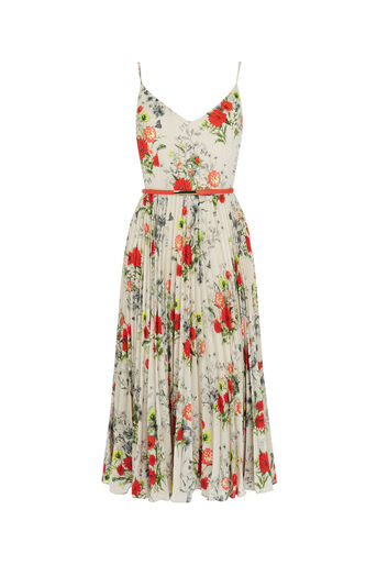 Oasis, FLORAL MIDI DRESS Multi Grey 0