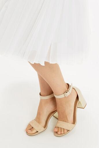Oasis, Pleated Midi Skirt Off White 4