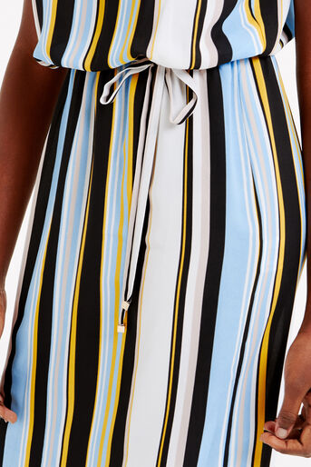 Oasis, Stripe Bardot Dress Multi 4