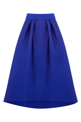 Oasis, SATIN FULL MIDI SKIRT Cobalt Blue 0
