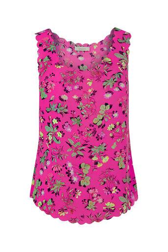 Oasis, Sophia Scallop Vest Multi Pink 0