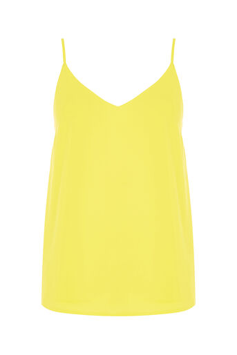 Oasis, V Neck Cami Mid Yellow 0