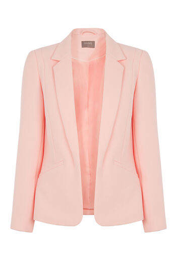 Oasis, TAILORED TEXTURED JACKET Pale Pink 0