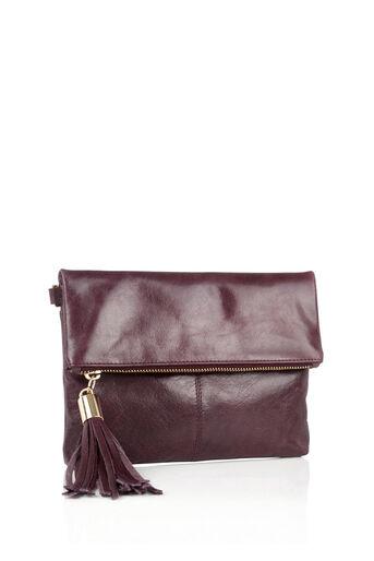 Oasis, Leather Ora Cross-Body Bag Burgundy 2
