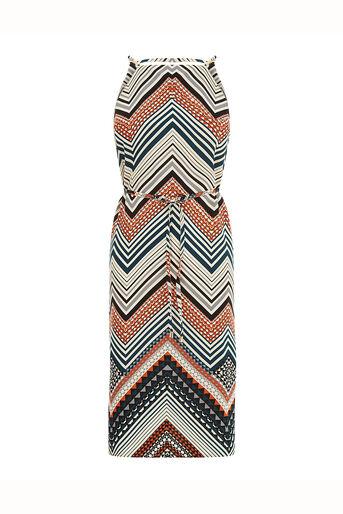 Oasis, Chevron Stripe Midi Dress Multi 0