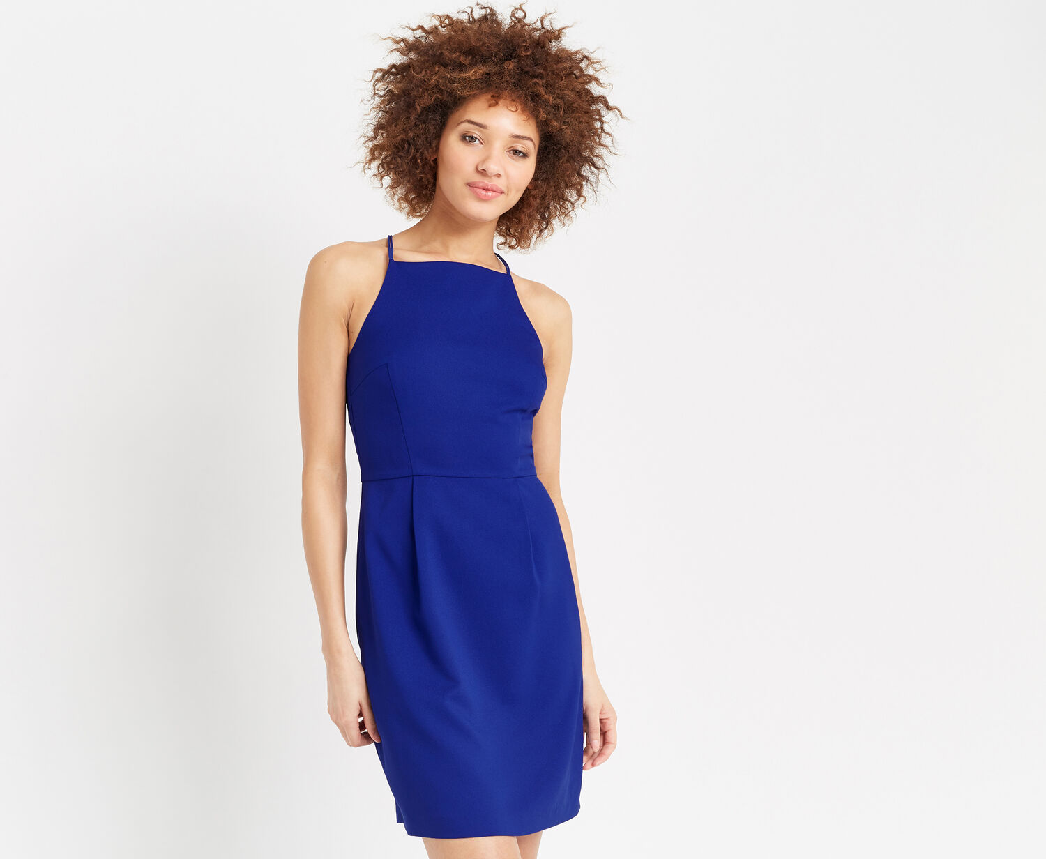 Oasis, LACE BACK CREPE SHIFT Cobalt Blue 1
