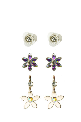 Oasis, DAISY EARRING PACK Crystal 0