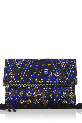Oasis, Blue Aztec Clutch Multi Blue 0
