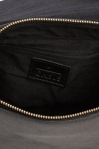 Oasis, Eda Leather Saddle Bag Black 2